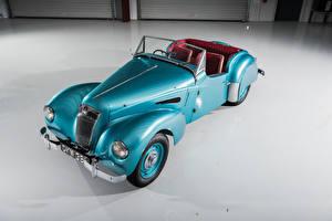 Фотографии Старинные Голубой Кабриолета 1949-53  Lea-Francis 2 ½ Litre Sports Автомобили
