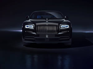 Фотография Роллс ройс Спереди Черный Купе Wraith Автомобили