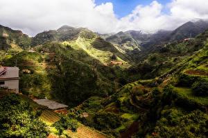 Фотографии Испания Гора Канары Облака Tenerife Природа