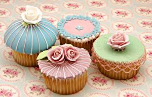 Обои Сладости Розы Капкейк кекс Дизайн Пища