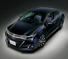 Фото Toyota Гибридный автомобиль Синий Sai 2015 Viola Автомобили