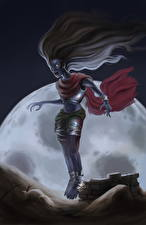 Картинки Вампиры Крик Ночь Луна Фэнтези