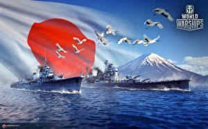Обои World Of Warship Корабли Японские Игры Армия