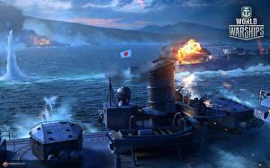 Фотографии World Of Warship Корабли Японские Игры Армия