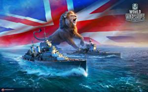 Фотография World Of Warship Корабли Львы Британский Игры Армия
