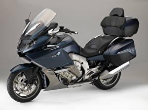 Картинки БМВ Серый фон 2015-16 K 1600 GTL Мотоциклы