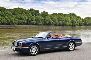 Картинки Bentley Синий Кабриолет Металлик Дорогие 1995-2002 Azure машина