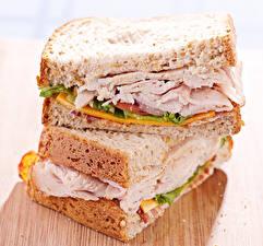 Обои Бутерброды Хлеб Крупным планом Сэндвич