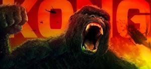 Картинки Клыки Конг: Остров черепа Злость gorilla