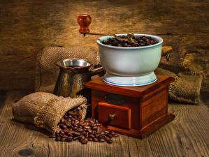 Обои Кофе Кофемолка Зерна Еда