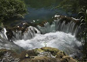 Фотографии Хорватия Парки Водопады Krka National Park Природа