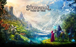 Картинки Фантастический мир Лошади Stormfall: Age of War Фэнтези