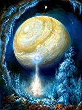 Картинки Фантастический мир Планеты Фантастика