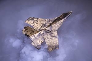 Картинки Самолеты Истребители Бумага Оригами Авиация