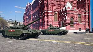 Картинки Праздники 9 мая Военный парад Танки Т-72 Российские