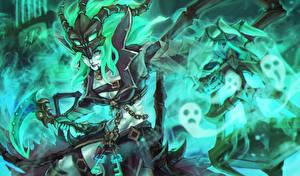 Фотография League of Legends Магия Chain Warden, thresh Игры Девушки Фэнтези
