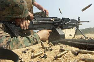 Фото Пулеметы Крупным планом USMC M249 SAW Армия