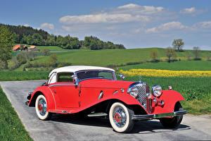 Обои Mercedes-Benz Ретро Красный 1934 500K Cabriolet A