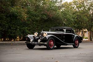 Фотография Мерседес бенц Винтаж Черный Металлик 1935-36 500K Cabriolet A Автомобили