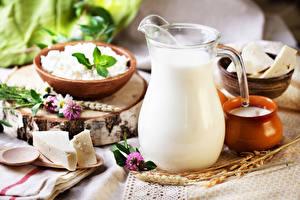 Обои Молоко Сыры Творог Кувшин Еда