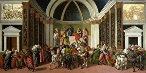 Фотография Живопись Лошади Sandro Botticelli, Storie di Virginia