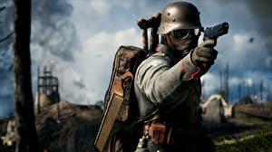 Фото Пистолеты Солдаты Battlefield 1 Шлем Немецкий