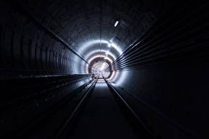 Картинки Железные дороги Туннель Метро