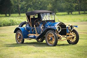 Обои Винтаж Металлик Синие 1911 National Model 40 Speedway Roadster авто