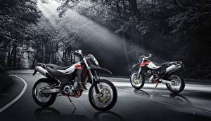 Картинки Дороги Вдвоем Лучи света 2015-16 SWM Superdual 650 Мотоциклы