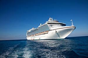 Фото Море Корабли Круизный лайнер