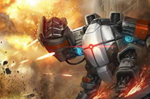 Фотография Shards of War Робот Bastion Игры Фэнтези