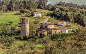 Картинки Испания Храмы Церковь San Pedro de Nora Asturias