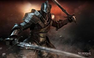 Обои Stormfall: Age of War Рыцарь Доспехи Мечи Фэнтези