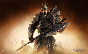 Обои Stormfall: Age of War Воины Доспехи Боевые топоры / Секиры Фэнтези