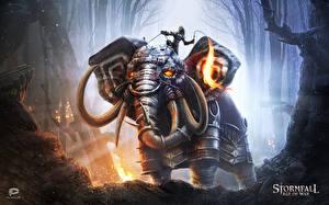 Картинки Stormfall: Age of War Воители Слоны Доспехи Игры Фэнтези