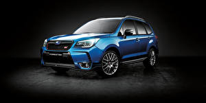 Картинки Subaru Синих Металлик Forester авто