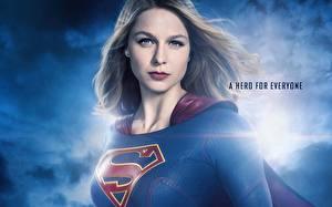 Обои Супергёрл герой Взгляд Melissa Benoist 2015 TV Series Девушки Знаменитости