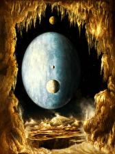 Обои Поверхность планеты Планеты Космос