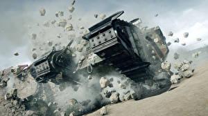 Фотография Танки Battlefield 1 Британский Mark V Игры 3D_Графика
