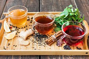 Обои Чай Корица Доски Чашка Продукты питания