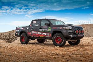 Фотографии Toyota Тюнинг Пикап кузов 2016 Tacoma TRD Pro Race Truck Автомобили