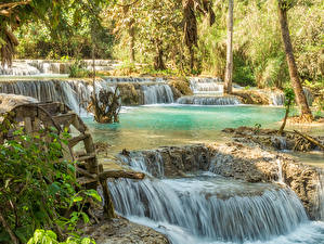 Фото Тропики Водопады Kuang Si Falls Laos