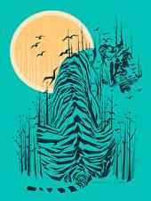 Фотографии Векторная графика Тигры