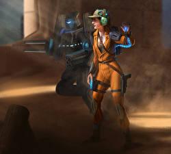 Фотография Воины Двое Робот Наушники Кепка Ophidian 2360, Botmaster Игры Девушки