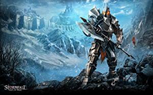 Картинки Воители Stormfall: Age of War Доспехи Боевые топоры / Секиры Фэнтези
