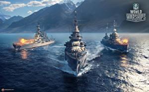 Фотографии World Of Warship Корабли Американский Cruiser USS Indianapolis (CA-35) компьютерная игра Армия