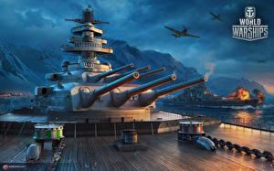 Фотографии World Of Warship Корабль Немецкий Großer Kurfürst компьютерная игра Армия