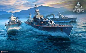 Обои World Of Warship Корабли Русские Soviet destroyers компьютерная игра Армия