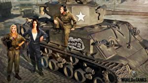 Картинка Танки WOT M4 Шерман Nikita Bolyakov Американские M4A3E8 Thunderbolt VII