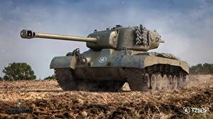 Фото World of Tanks Танки Американские Т26Е5 3D_Графика
